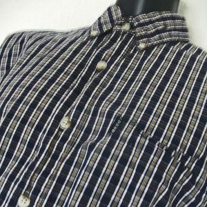 BKE Buckle Men's Plaid Shirt Slim Fit Large Plaid.
